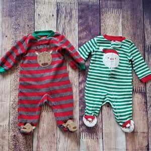 Reindeer & Santa Onesies